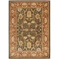 Safavieh Heirloom Brown/ Rust Rug (6'7 x 9'1)
