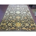 Safavieh Heirloom Brown/ Gold Rug (6'7 x 9'1)