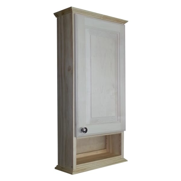series 30 inch natural finish 6 inch open shelf on the wall cabinet
