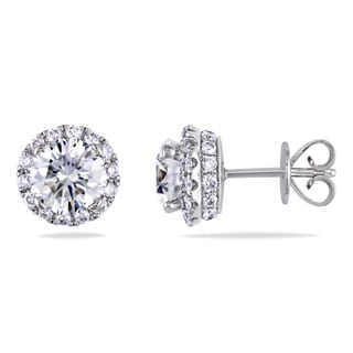 Miadora 18k White Gold 2 2/5ct TDW Diamond Stud Earrings (I-J, SI1-SI2)