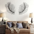 Nihoa Plume Circular Accent Wall Mirrors (Set of 2)
