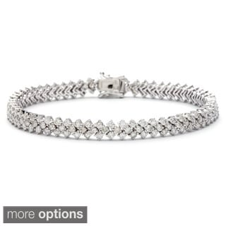 14k White Gold 5 3/5ct TDW Diamond Link Bracelet (G-H, SI1-SI2)