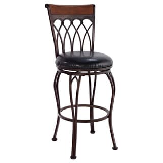 Vin Brush Bronze Metal Swivel Stool
