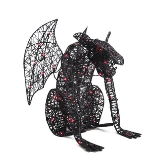 Black-winged 24-inch Lighted Wire Monster