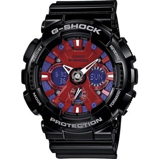 Casio G-Shock Men's Red and Blue Dial Watch