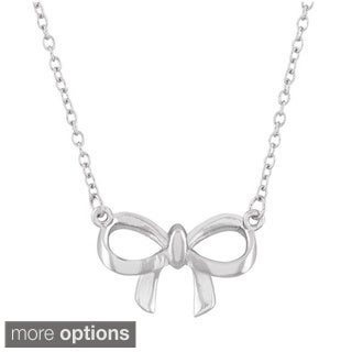 La Preciosa Sterling Silver Bow Necklace