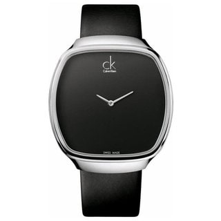 Calvin Klein Women's Appeal Black Leather Strap Watch