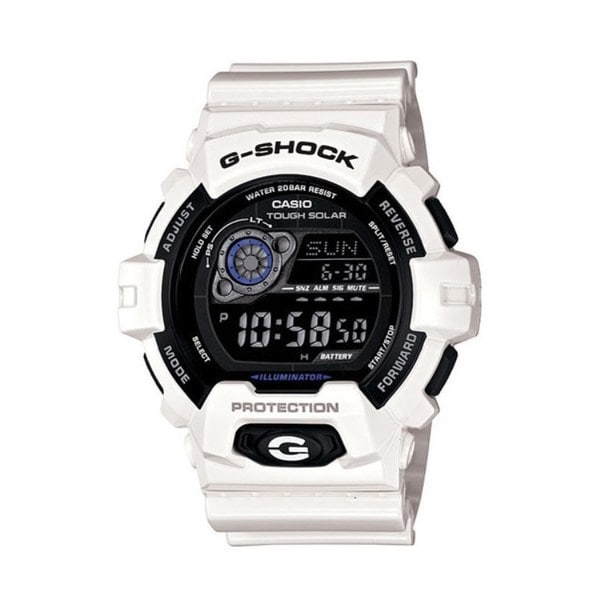 Casio G-Shock Men's White and Black Resin Watch