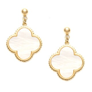 La Preciosa Goldplated Sterling Silver Mother of Pearl Dangle Earrings