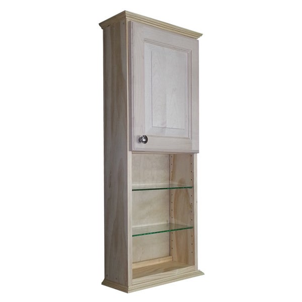 ashley series unfinished wood wall cabinet