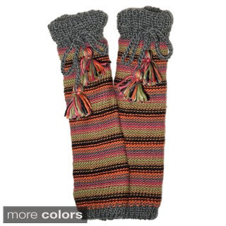 Hand-knitted Striped Leg Warmers (Nepal)
