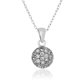 Molly and Emma Sterling Silver Children's Cubic Zirconia Circle Necklace