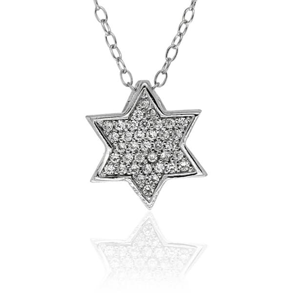 Molly and Emma Sterling Silver Children's Cubic Zirconia Star Necklace