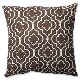 Pillow Perfect Donetta Chocolate 18-inch Throw Pillow