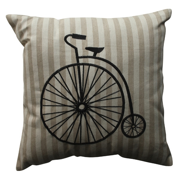 Vintage Bicycle Throw Pillow