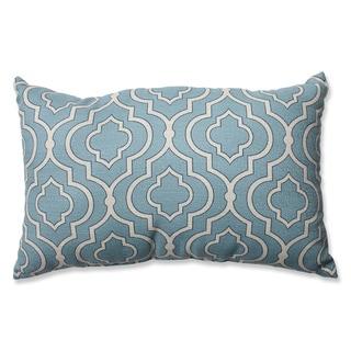 Pillow Perfect Donetta Aqua Rectangular Throw Pillow