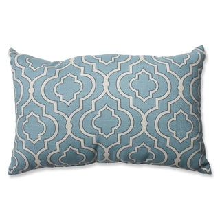 Pillow Perfect Donetta Aqua Rectangular Throw Pillow
