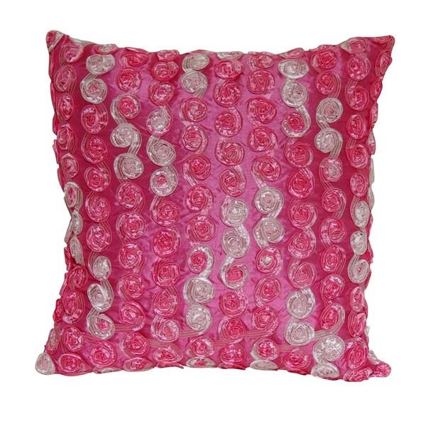 Honeycomb Fuchsia Throw Pillow