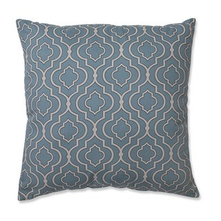 Pillow Perfect Donetta Aqua Square Throw Pillow