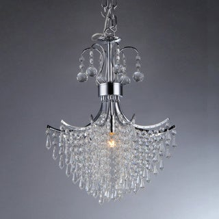 Mokume Crystal 3-Light Chandelier