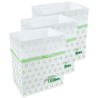 Clean Cubes Patterned Disposable Trash Cans and Recycling Bins (Set of 3)