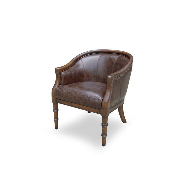 Marshall Leather Chair Overstock Shopping