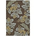 Indoor/ Outdoor Fiesta Chocolate Island Rug (7'6 x 9')