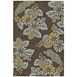 Indoor/ Outdoor Fiesta Chocolate Island Rug (3' x 5')