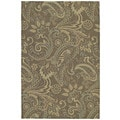 Indoor/ Outdoor Fiesta Brown Paisley Rug (5' x 7'6)