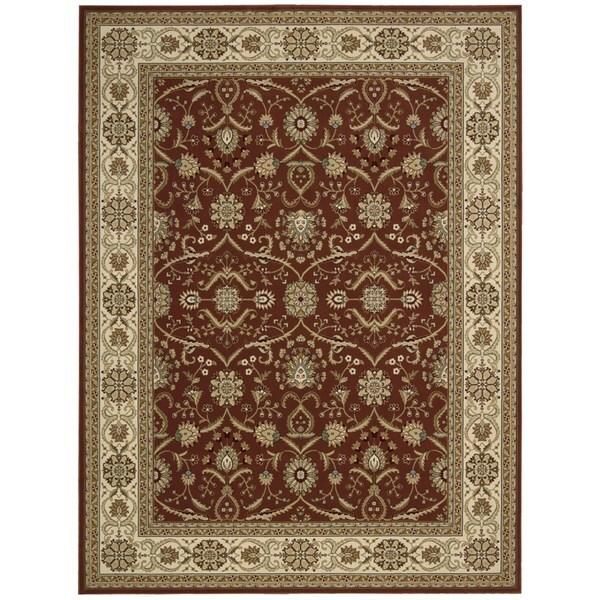 Nourison Persian Crown Brick Rug (9'3 x 12'9)
