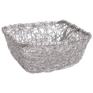 9-inch Square Twist Wire Mesh Basket