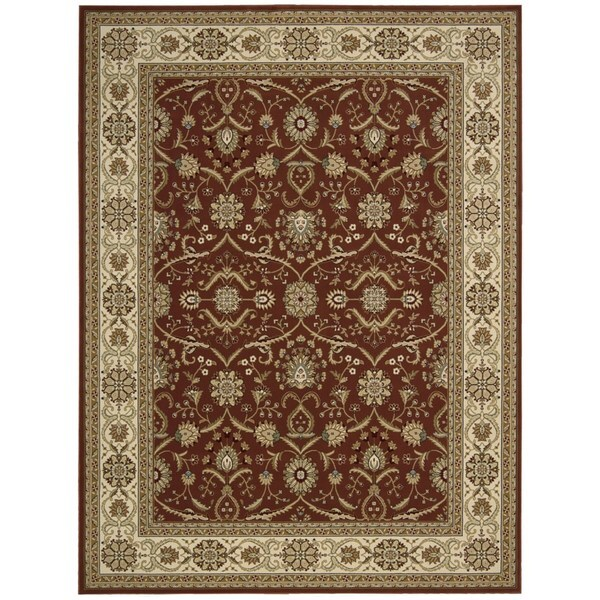 Nourison Persian Crown Brick Rug (7'10 x 10'6)