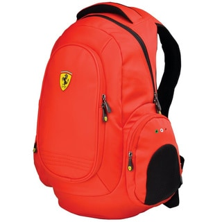 Ferrari Heavy-Duty Red 17-inch Laptop Backpack