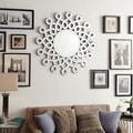 INSPIRE Q Nordica Infiniti Border Silver Finish Accent Wall Mirror