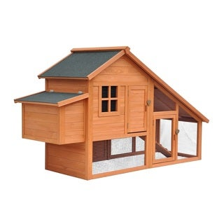 Merry Products Natural Stain Habitat Chicken Coop