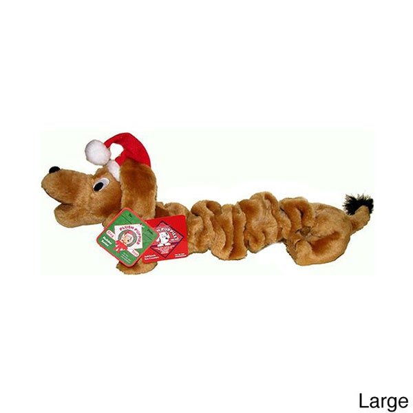 Kyjen Plush Puppies Halloween Bungee Wiener Dog Hat Ornament Play Toy