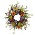 24-inch Spring Garden and Twig Wreath