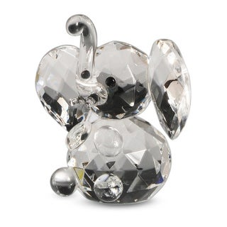 Crystal Florida Sitting Elephant Figurine