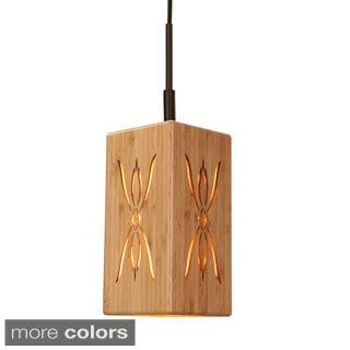 Light House 1-Light Symmetry Bamboo Mini Pendant