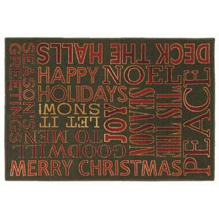 Holiday Greetings Holiday Accent Rug (2'7 x 3'10)
