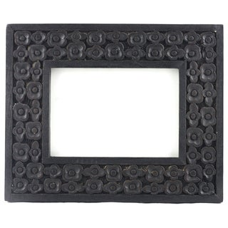 Handcarved Floral Wooden Photo Frame