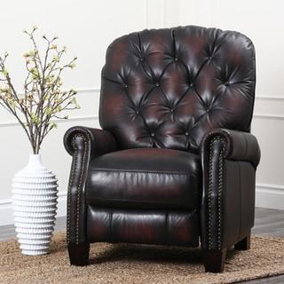 ABBYSON LIVINGAbbyson Camden Hand Rubbed Leather Pushback Recliner