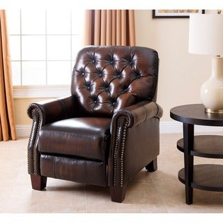 ABBYSON LIVING Camden Hand Rubbed Leather Pushback Recliner