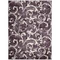 kathy ireland by Nourison Santa Barbara Dark Violet Rug (7'10 x 10'10)