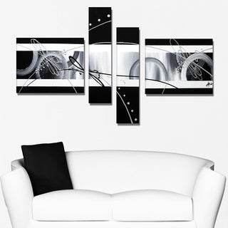 Abstract Black and Grey Hand Painting