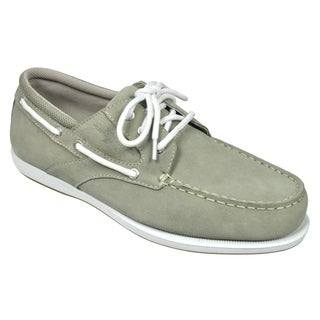 Rugged Shark Men's 'Day Cruiser' Taupe Oxford Shoes