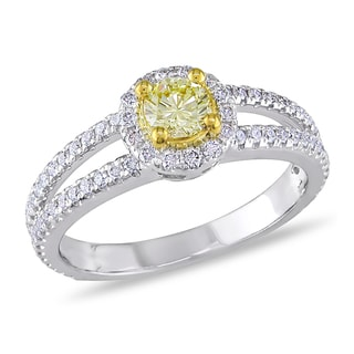 Miadora 14k Gold 1ct TDW Yellow and White Diamond Ring (G-H, SI1-SI2)