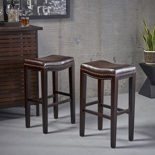 Christopher Knight Home 'Avondale' Brown Backless Bar Stools (Set of 2)