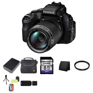 Fujifilm FinePix HS50EXR 16MP Black Digital Camera Bundle