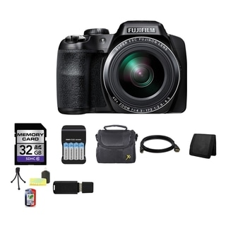 Fujifilm FinePix S8200 16.2MP Black Digital Camera 32GB Bundle